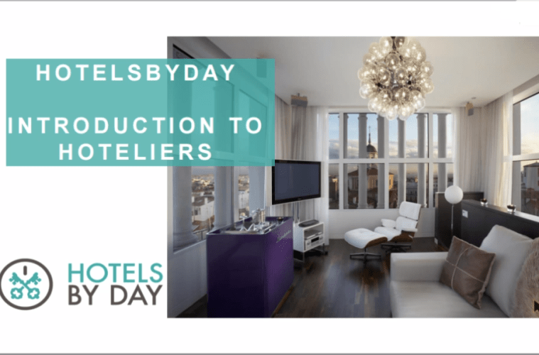 Hotels By Day introduction page