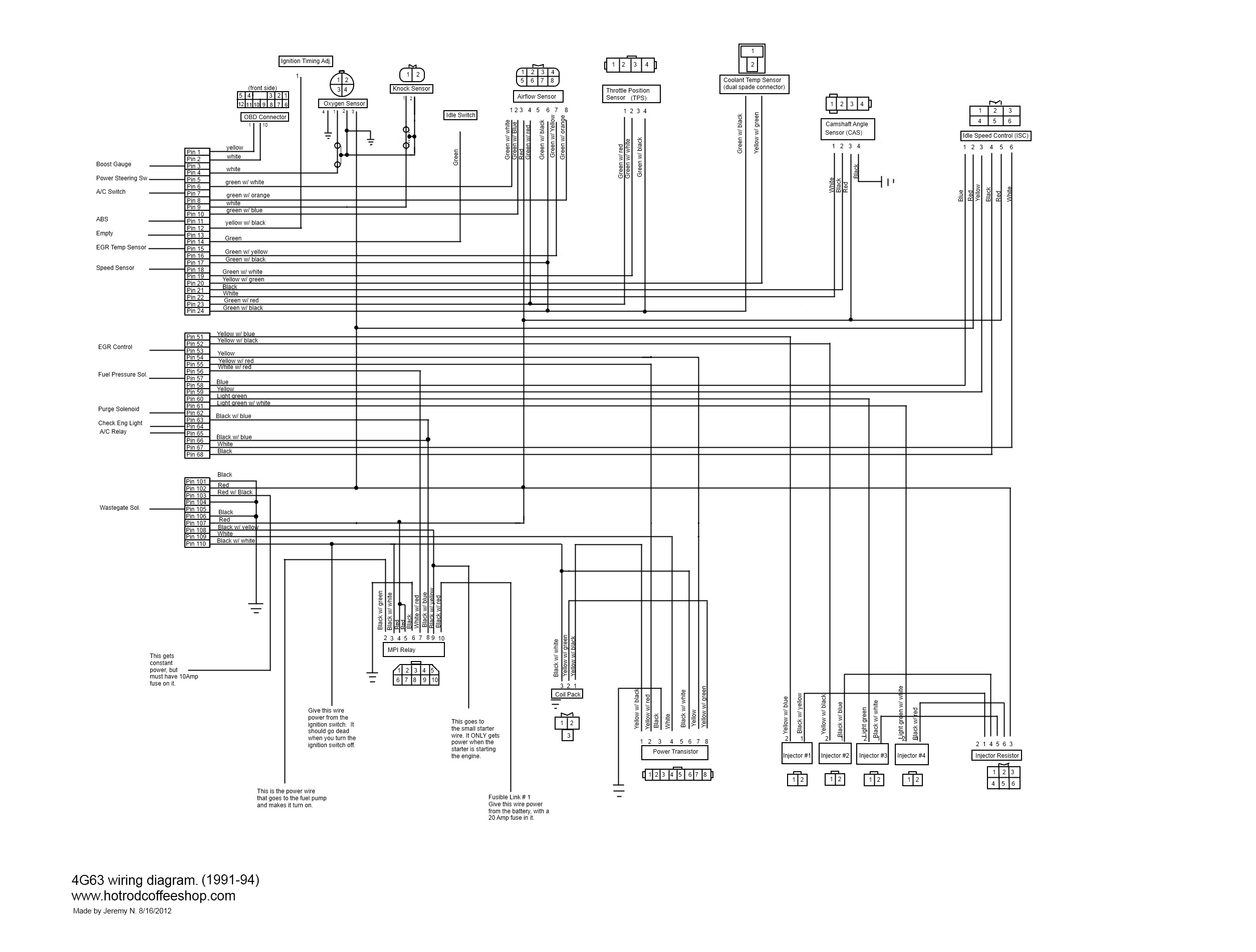 I Made A 4g63 Turbo Wiring Diagram To Help People With