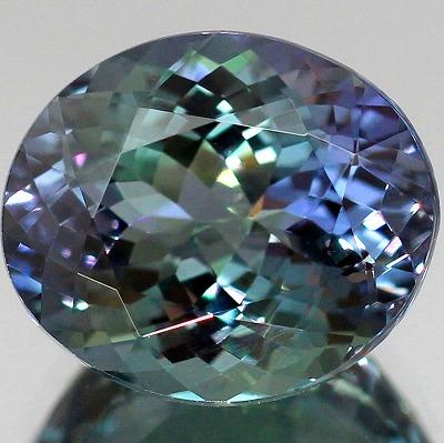 新着◆4.50ct天然バイカラータンザナイト【ブルー&グリーン】美濃色