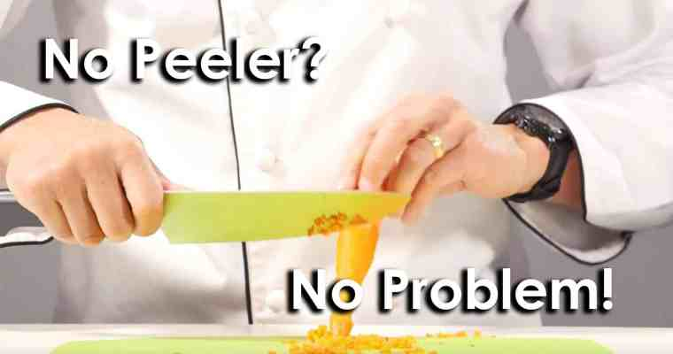 Quick Tip! How to Peel without a Peeler