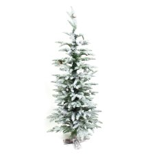 4ft Snowy Frosted Noble Fir Christmas Tree
