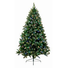 6ft Rockingham Coloured Pre-lit Christmas Tree