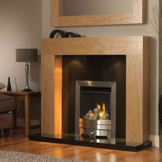 Urban Oak Fire Surround with Downlighters