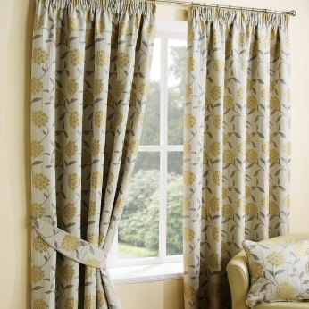 Belfield Paloma Ochre Curtain Collection