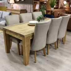 Benedict Reclaimed Wood 200cm Dining Table & 6 Capri Chairs