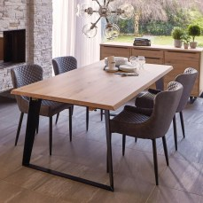 Weldon Dining Table & 4 Toby Brown Dining Chairs