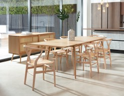 Larvik Dining Table, Extension Leaf & 6 Chairs
