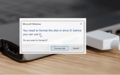 "Fix: ""You need to format the disk in drive before you can use it"""