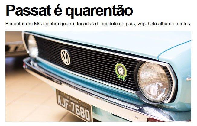Imagem retirada da página principal da UOL Carros