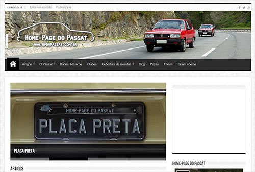 Novo layout da Home-Page do Passat