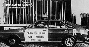 Passat 4 portas testado pela Polícia Militar do Paraná em 1975