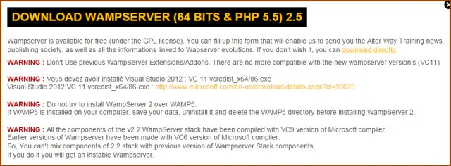 wamp-versions-download-message
