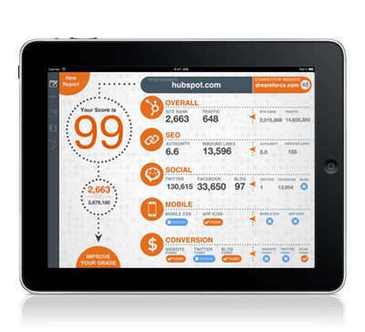 HubSpot Website Grader iPad App