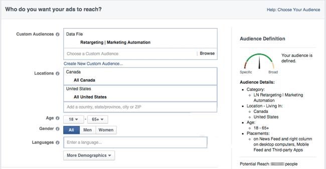 Segmentasi facebook ads, penargetan