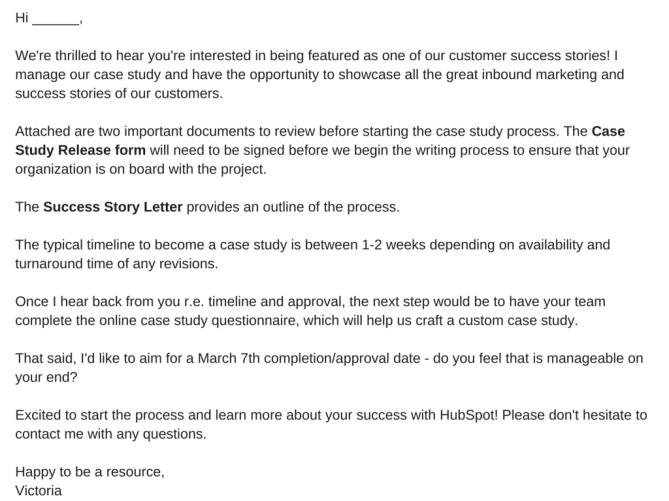 How to write a good success story: CARP - Model