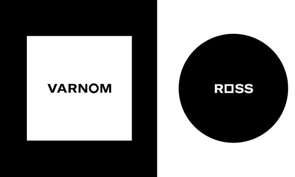 minimalist logo design with monochrome and geometric shapes