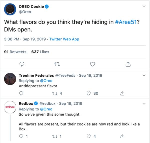 Oreos Newsjacking Tweet