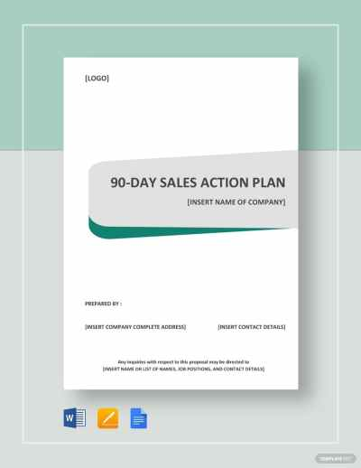90-day sales action plan