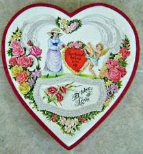 The first ever Cadbury heart shaped chocolate box