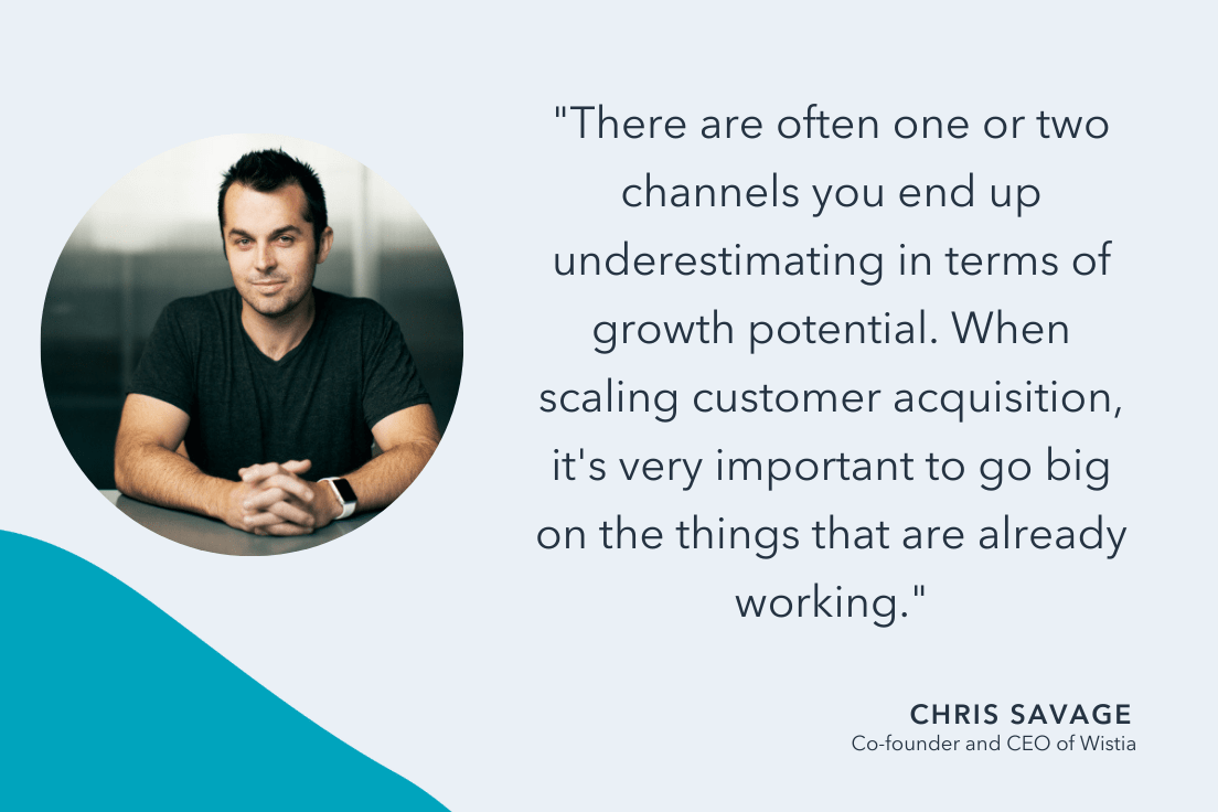 Chris Savage quote on scaling businesses