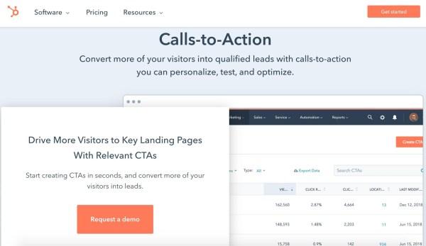 hubspot calls to action cta tool