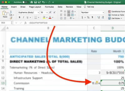 How to Protect Formulas in Excel step 1