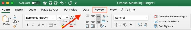 How To Protect a Worksheet in Excel step 1