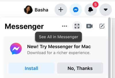 How to find Facebook messenger