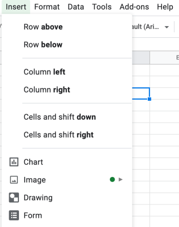 How to add an image to an excel cell, step 1 click insert