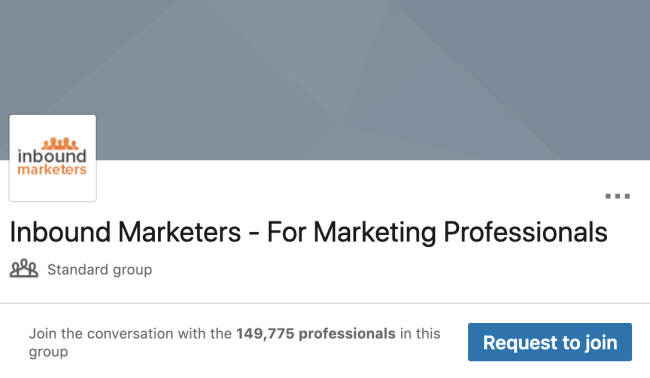 example of a linkedin group inbound marketers group