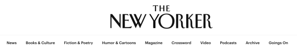 blog categories on The New Yorker