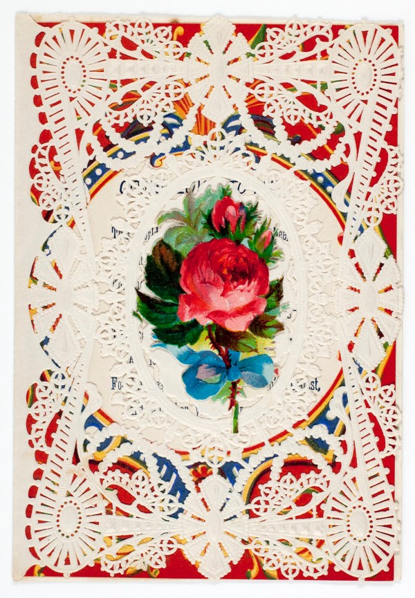 The first card ever made for Valentine's Day (by Esther Howland)