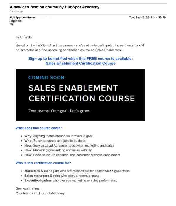 HubSpot Mail - A new certification course by HubSpot Academy