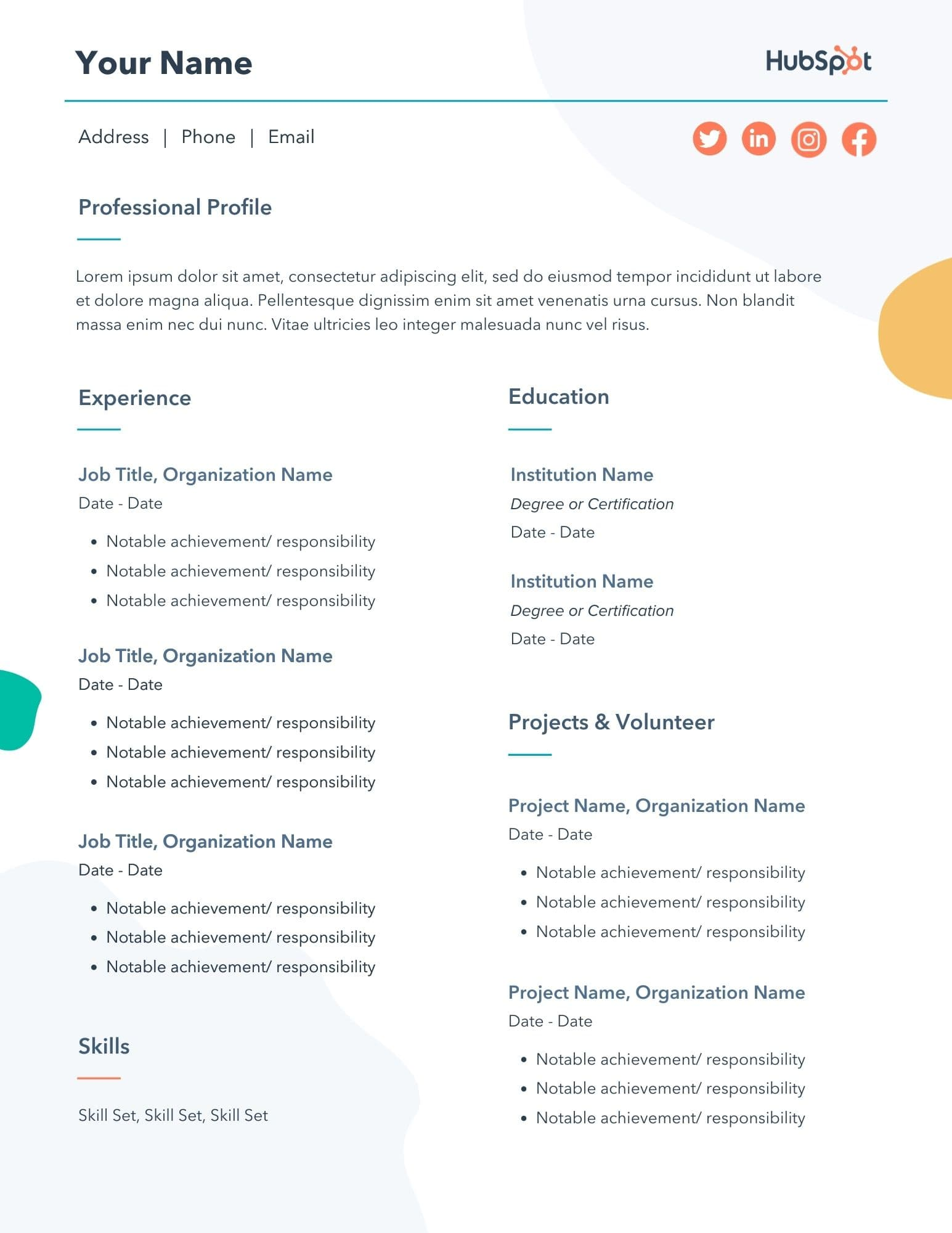 Extended cv is a free easy resume that can be used to apply for academic and research positions. 29 Free Resume Templates For Microsoft Word How To Make Your Own