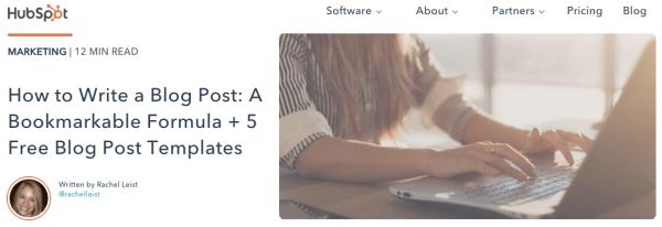 Immagine in primo piano di un post sul blog su come fare un blog