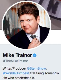 Funny twitter bio from @TheMikeTrainor