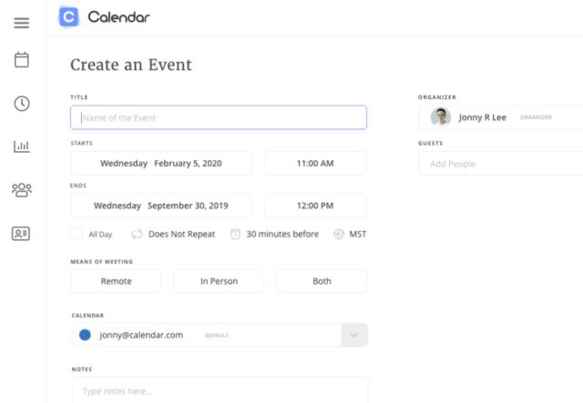 Event page creation on Calendar website