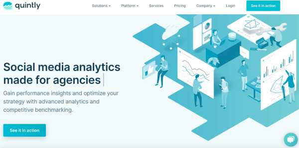 marketing analytics tools quintly example