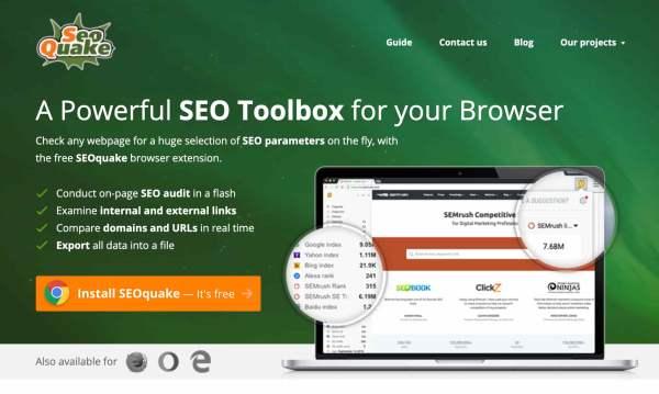 seoquake free seo tools