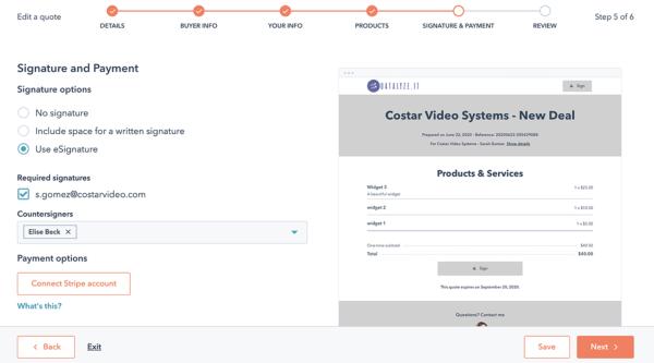 Exemple de plate-forme de GRC hubspot de système de gestion des contacts