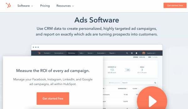 hubspot ads software