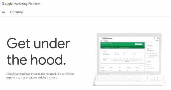 a/b testing-tool: Google Optimize