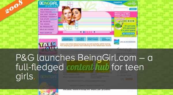 advertising history procter gamble content hub beinggirl