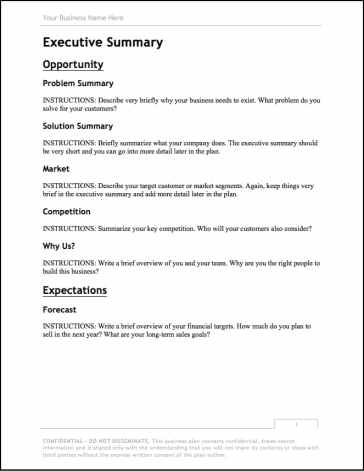 BPlan's free business plan template.