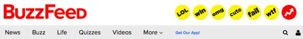 BuzzFeed website header