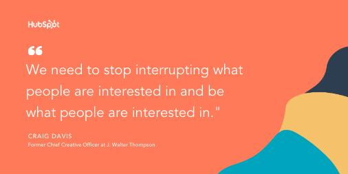 Content marketing tip by Craig Davis:
