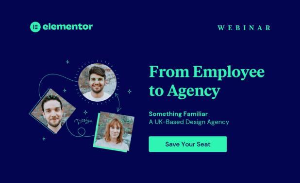 Elementor webinar invite header