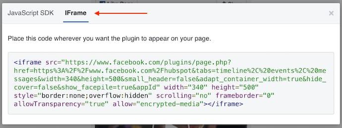 facebook-page-plugin-embed-code