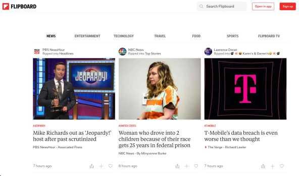 flipboard blog content aggregation site