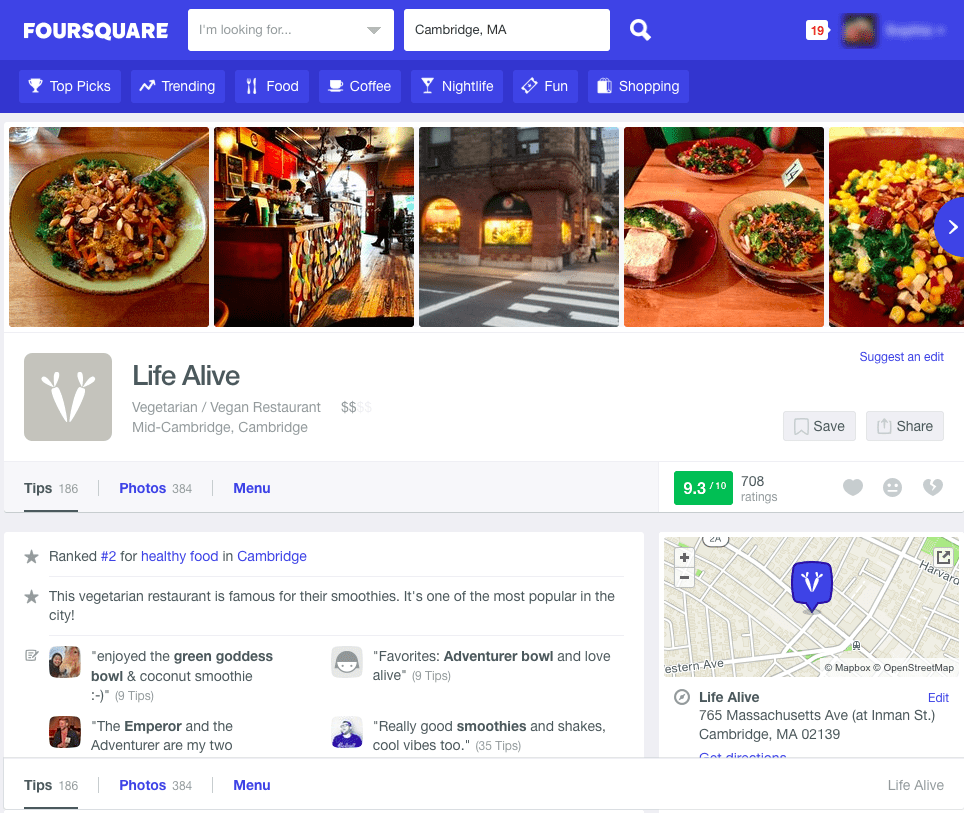 foursquare-customer-review-sites